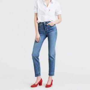 NEW Levi's Wedgie Fit Tapered Leg High Rise Jeans